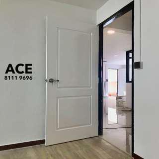 Classic door for bedroom or storeroom