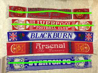 English Football Clubs - Scarfs