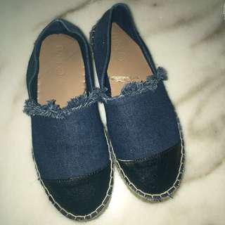 Blue Chanel inspired espadrilles