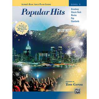 ALFRED'S BASIC ADULT PIANO COURSE POPULAR HITS LEVEL 1