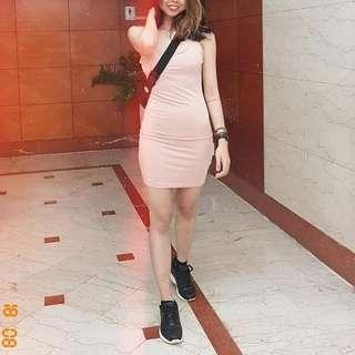 Bodycon Dress - Nude - Small