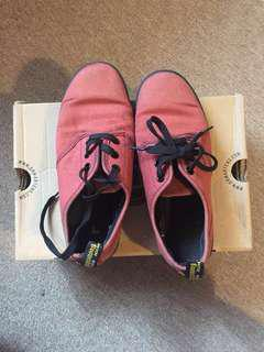 Dr. Martens Soho Cherry Red Canvas