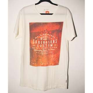 COTTON ON Graphic Tee (White + Orange)