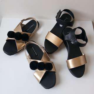 BNIB!!! New!!! Kayya & Satin wedges & sandal