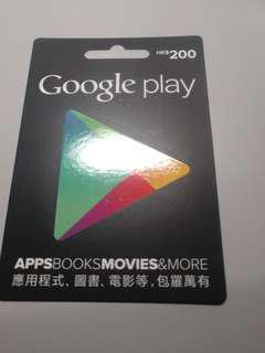 Google Play Card $200
