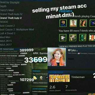Jual Acc Steam 25++ Games Harga Jauh!!