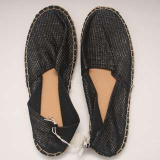 OLD NAVY Metallic Woven Espadrilles (Black)