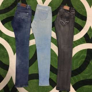 Combo 3 x jeans. Guess & Giordano