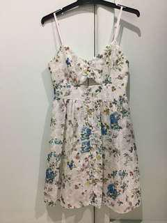 Floral cut out Dotti dress AU8