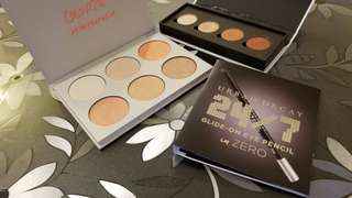 Colourpop highlighter、eyeshadow palette