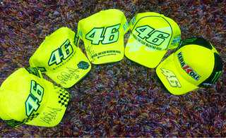 Cap sign by valentino rossi