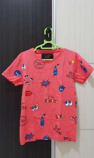 Baju pink motif lucu