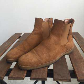 Religion Chelsea Suede Boots Tobacco
