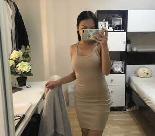 Nude dress pretty little thing