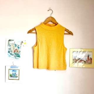 H&M Mustard Yellow Knit Top