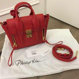 近全新 3.1 Phillip Lim Pashli Satchel mini 正紅