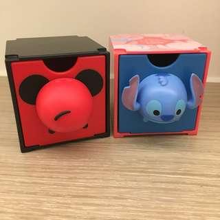 7-11 disney tsum tsum 百變組合box 04米奇 07 stitch 史迪仔