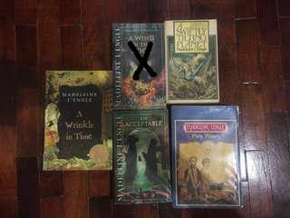 Time Quintet Books - Madeline L'Engle (4 books only)