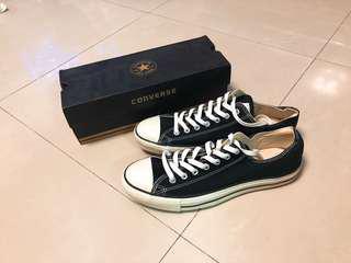 Converse經典黑色帆布鞋 稀少us13uk12