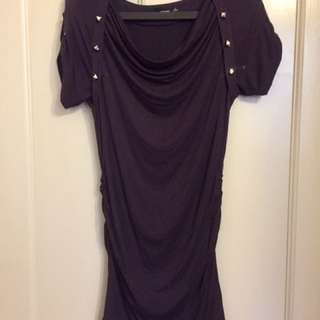 Dark Purple Form Fitting Dress