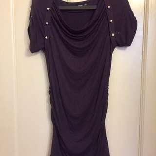 Dark Purple Form Fitting Dress