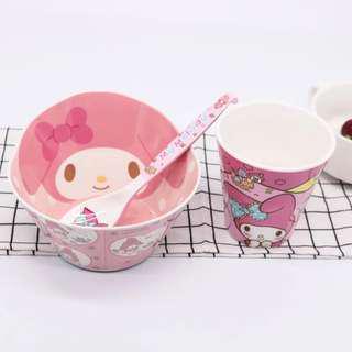 Cartoon Bowl, Spoon, Cup Set - Melody