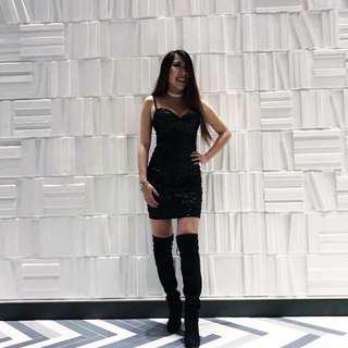 Express sequin bodycon dress size 0