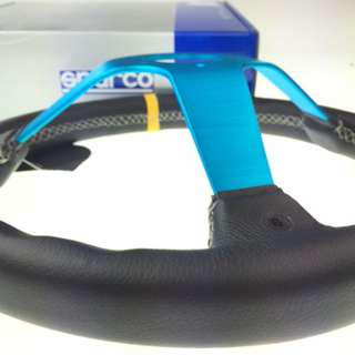 Sparco MONZA Blue  frame leather steering  13''   model 39041