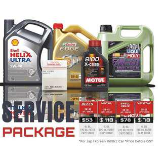 CAR SERVICING PACKAGES FR $53