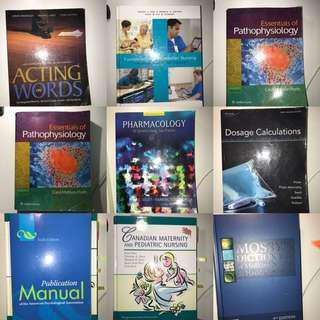 Practical nursing textbooks (price list below)