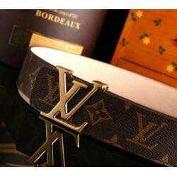 lv logo louis vuitton original brown belt