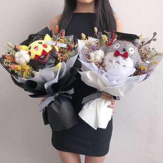 Graduation Flower   Toy Bouquet   Totora Flower   Pikachu