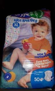 Drypers Wee Wee Dry (XL) - Open and used 1