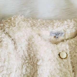 AUTH Theoria (japanese brand) Fashionable Off White Fur Jacket Coat