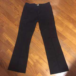 Mango black pants for women