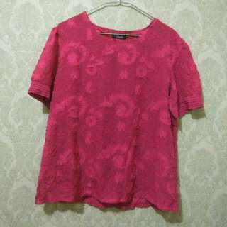Woman top red