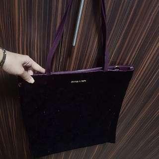 charles&keith velvet bag