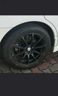 Used Advanti (Maxx Racing)17( 8J) with tyre x 4pcs