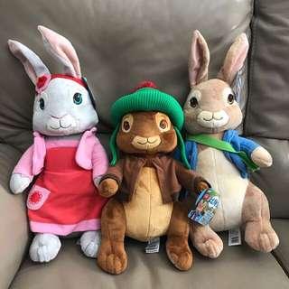 彼得兔 Peter Rabbit 40cm 大公仔(1套3隻)