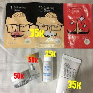 Korean beauty sample/deluxe size