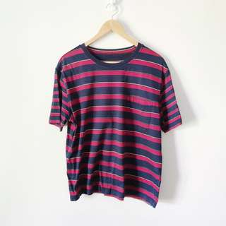 Blue and Red Striped Tee