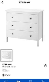 IKEA chest of 3 drawers