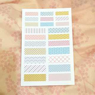 Stickers (pastel paper stickers)