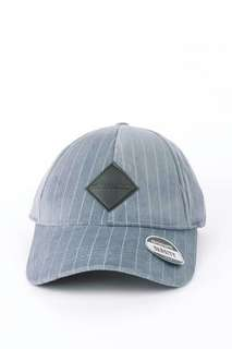 Brand New Men's Gray Striped Cap