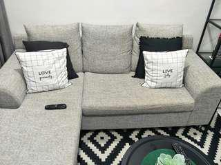 L shape sofa grey color (Self pickup)