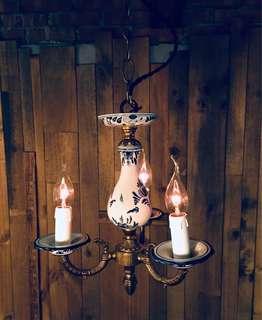 歐洲陶瓷燭台式吊燈
