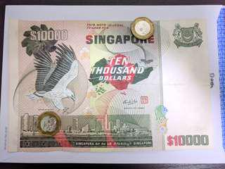 Singapore bird series $10000 with A1 Prefix! (FastDeal)