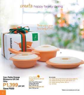 Tupperware Petite Orange Blossoms Gift Set