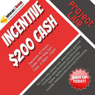 Looking for focus group participants - Incentive $200 cash