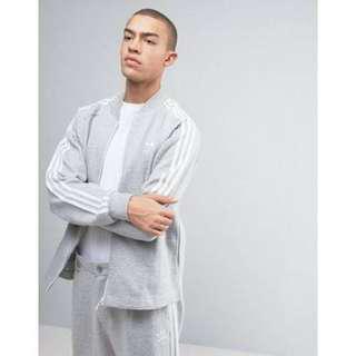 🚚 Adidas originals sst premium 灰色 s號 立領棉質外套 近全新